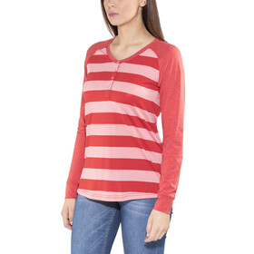 Bergans Ryvingen Long Sleeve Ladies Pale Coral/Pale Red Striped